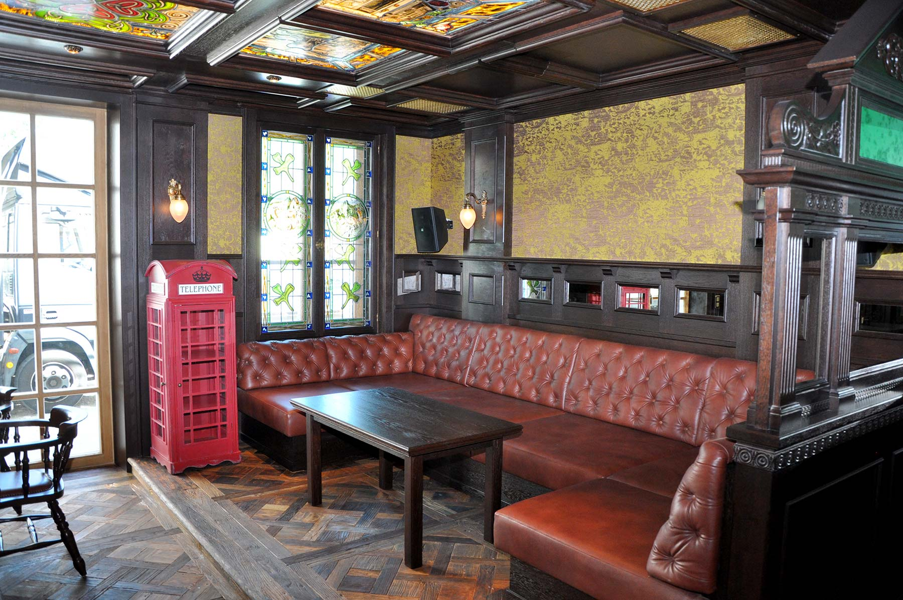 stilgerechte raumgestaltung f r privates irish pub manhartsgruber. Black Bedroom Furniture Sets. Home Design Ideas