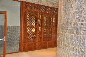 Hamam-Einrichtung aus Holz