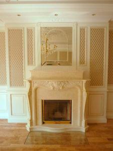 Wohnzimmer-Kamin aus Holz