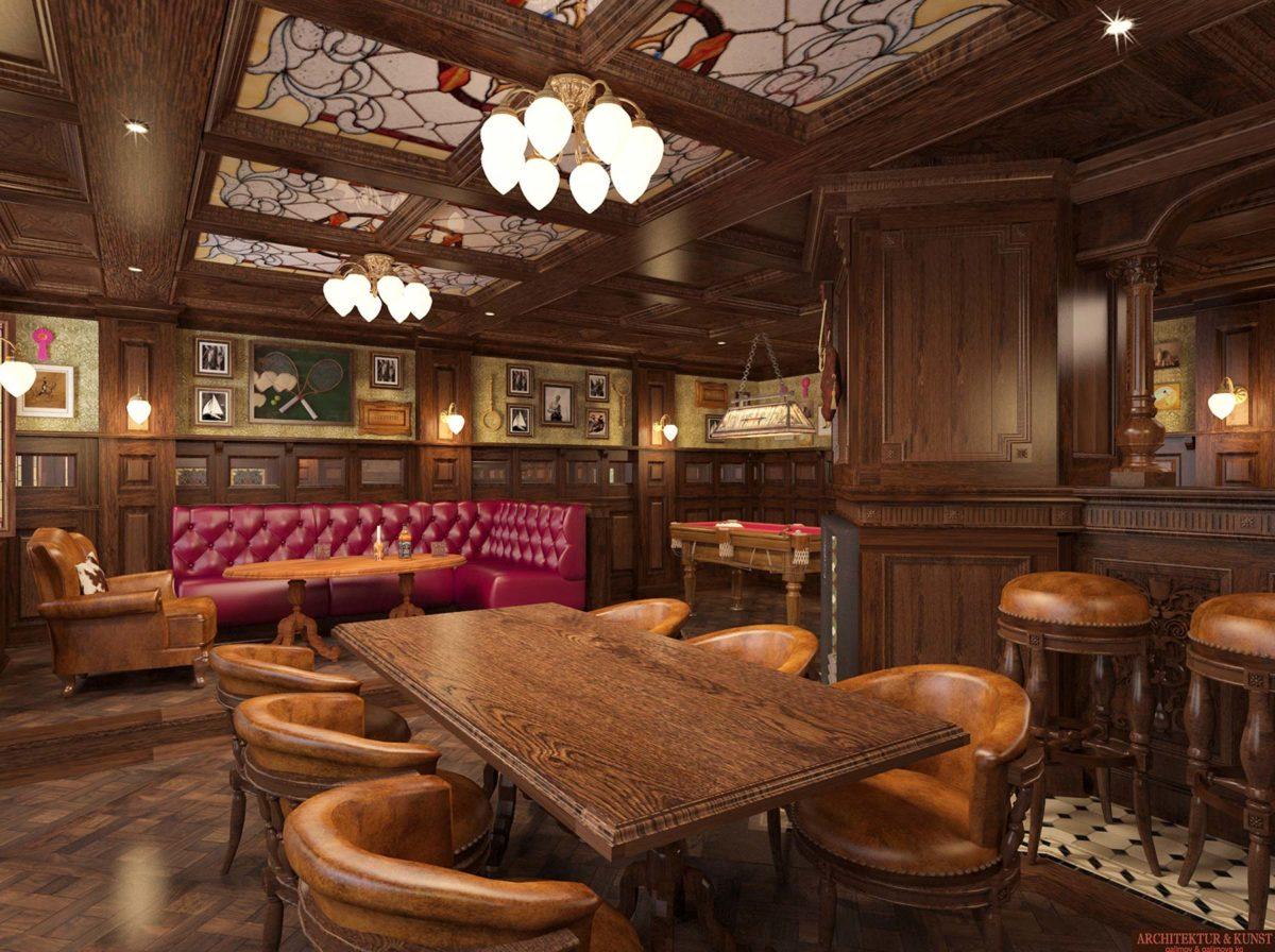 Einrichtung für originalgetreues Irish Pub inklusive Bar-und ...