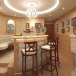 Wohnzimmer mit Bar für Privathaus